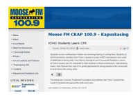 Moose-FM-CKAP-100.9-Kapuskasing-2013-05-29-KDHS-Students-Learn-CPR