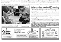 2013-07-01-Chemainus Valley Courier-Valley Teachers Receive AED Training