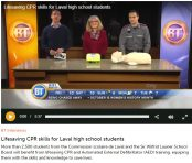 2016-10-21-Breakfast Tv - Lifesaving CPR skills for Laval high school students