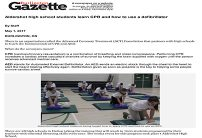 2017-05-01-Burlington Gazette-Aldershot high school students learn CPR and how to use a defibrillator-1