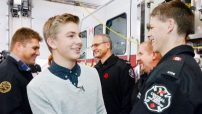 Photo by: Mike Barrett/Metroland http://www.yorkregion.com/news-story/6941743-aurora-teen-reunited-with-firefighters-paramedics-who-saved-his-life/
