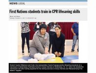 2017-10-31_Kenora Daily Miner and News_First Nations students train in CPR